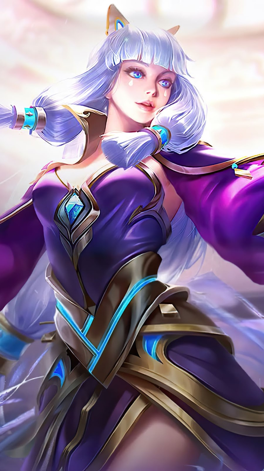Wallpaper Guinevere Amethyst Dance Skin Mobile Legends HD for Android and iOS
