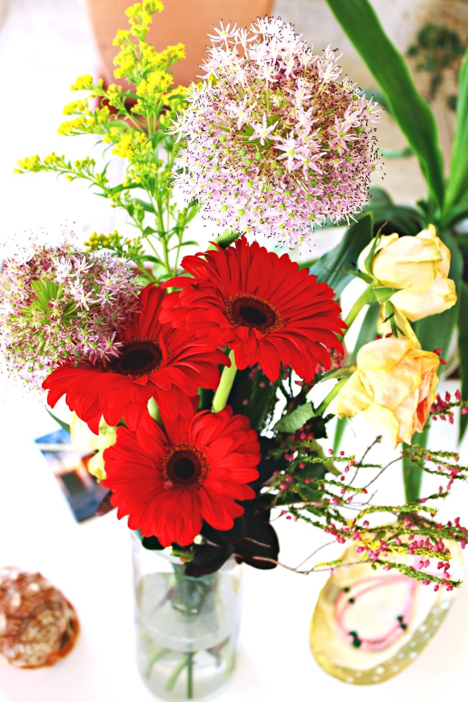 colorful wedding bouquet, colorful flowers idea, sareni buket cveca