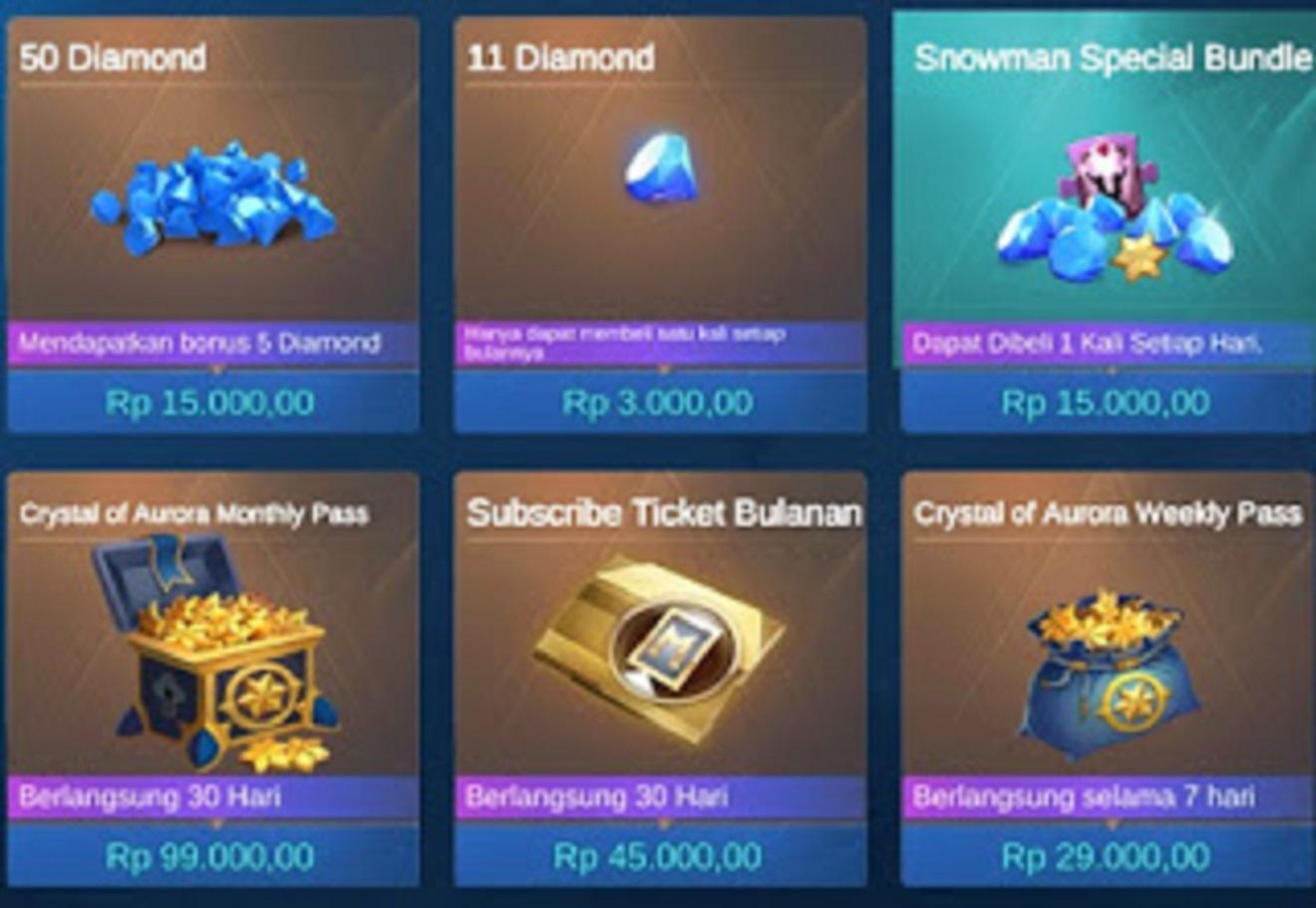 cara membeli diamond mobile legends