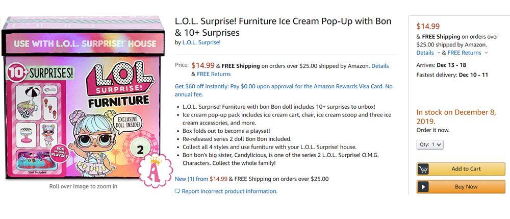 Цена игрушки мебель L.O.L. Surprise Furniture Series 2