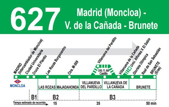 Nuevo servicio expr s de la l nea 627 de autobuses for Oficinas del consorcio de transportes de madrid puesto 2