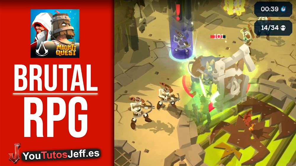 Brutal RPG para Android/iOS🔥Descargar Mighty Quest for Epic Loot Gratis