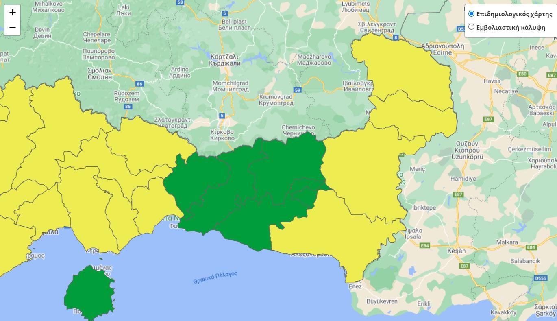 Στο κίτρινο η Ξάνθη λόγω αύξησης κρουσμάτων