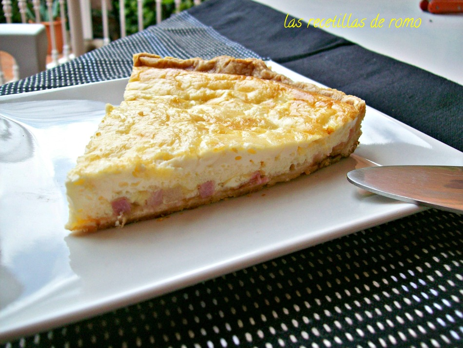 Tarta de bacon y queso
