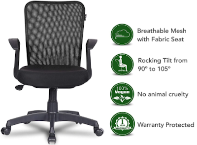 Mid Back office chair with breathable mesh