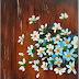Blue Chamomile | Lukisan Acrylic #7