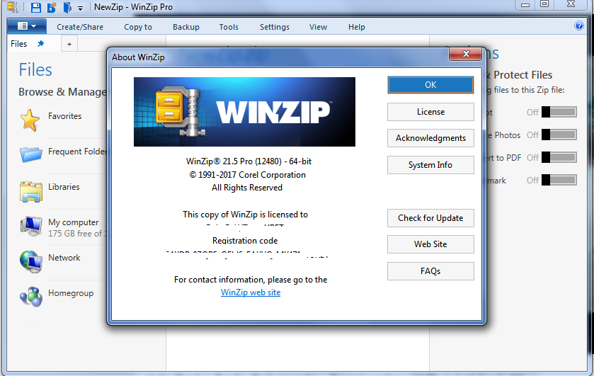 Winzip 19.5 activation code