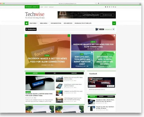 top 8 professional free responsive blogger template for quickly AdSense approval