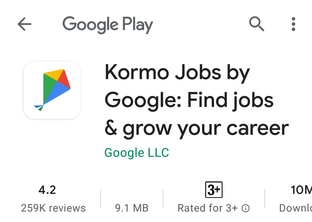 KORMO JOBS BY GOOGLE : FIND JOBS AND GROW YOUR CAREER   DOWNLOAD HERE APPLICATION