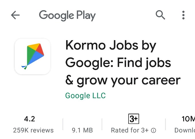 KORMO JOBS BY GOOGLE : FIND JOBS AND GROW YOUR CAREER