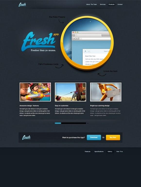 Fresh App – Free Website PSD