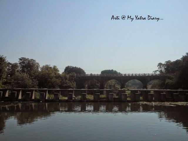 The canal at the Sangameshwar Shiva Temple, Saswad, Pune