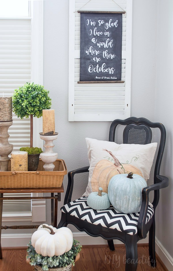 DIY painted pumpkin pillow