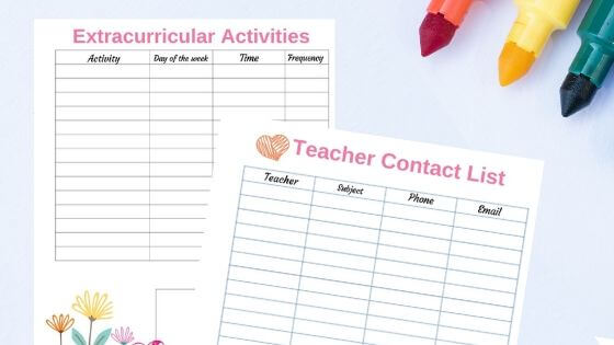 School Planner for kids