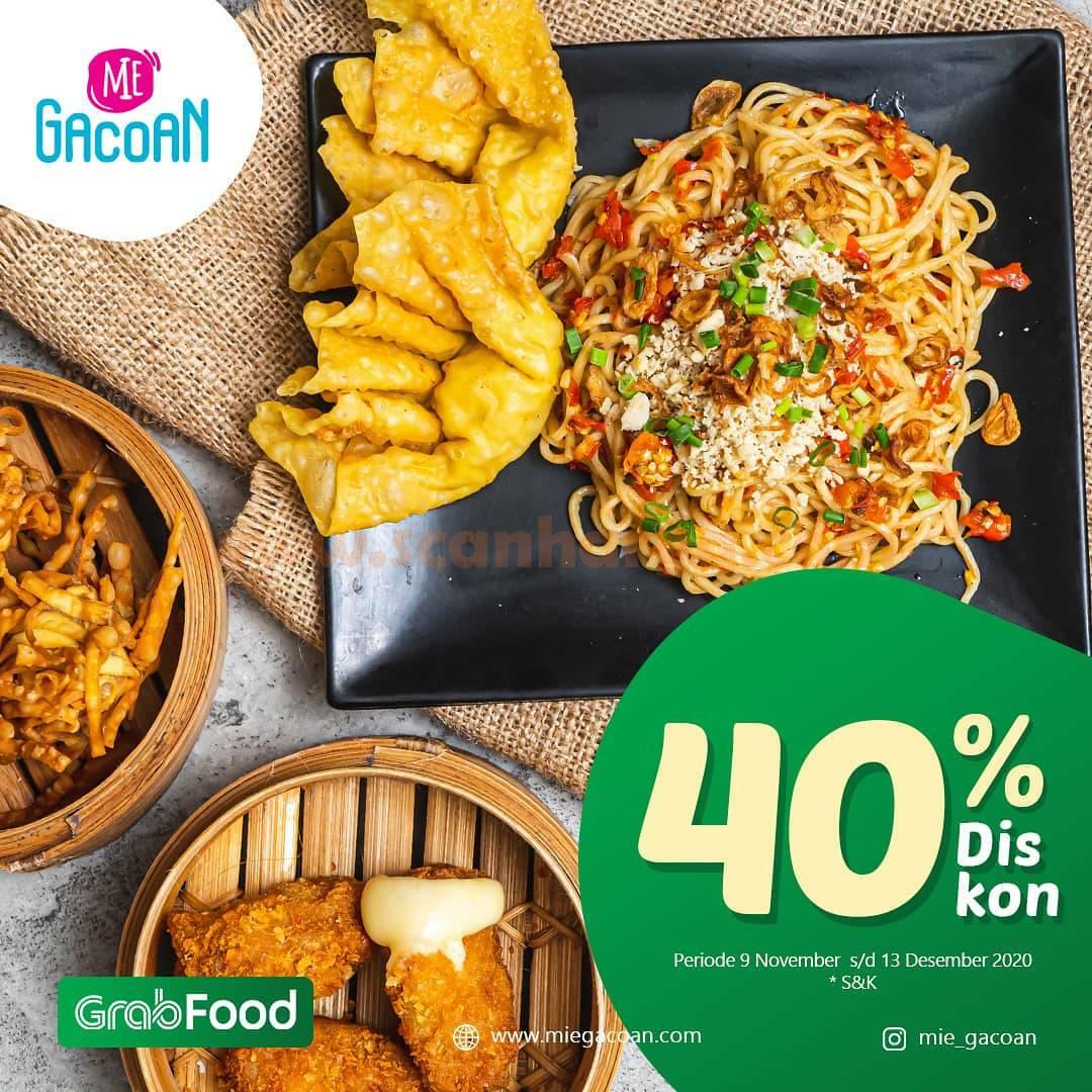 Promo Mie Gacoan Diskon 40% All Menu khusus pesan antar via Grabfood 