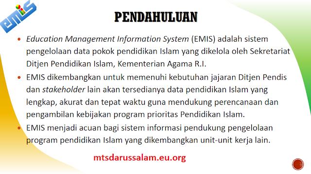Mekanisme Pendataan EMIS Tahun Pelajaran 2020/2021