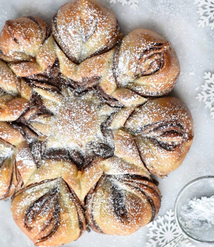 Christmas Babka snowflake loaf