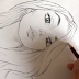 Cartoon Face Pencil Drawing