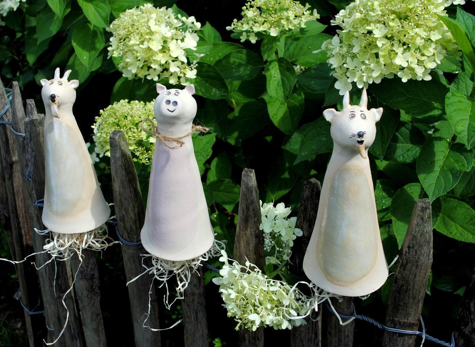 gartendeko selbstgemacht aus ton kunstrasen garten hause und, Garten und bauen