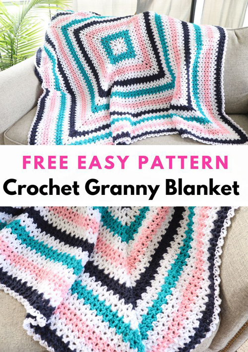 Crochet Granny Blanket - Free Easy Pattern