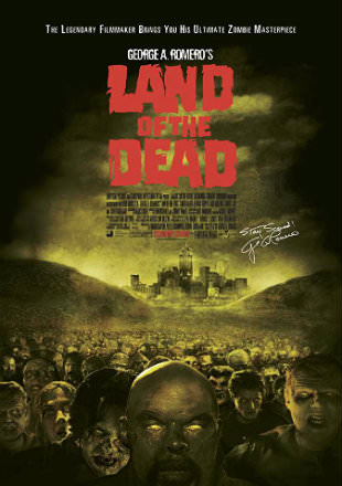 Poster of Land of the Dead 2005 BRRip 720p Dual Audio Hindi English ESub