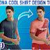 FC Barcelona Cool Shirt Design Tutorial + Free yellow Image Mockup by M Qasim Ali