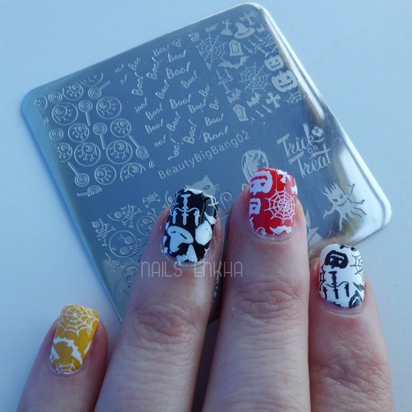 Halloween Nail Art Ghost Stamping Plate