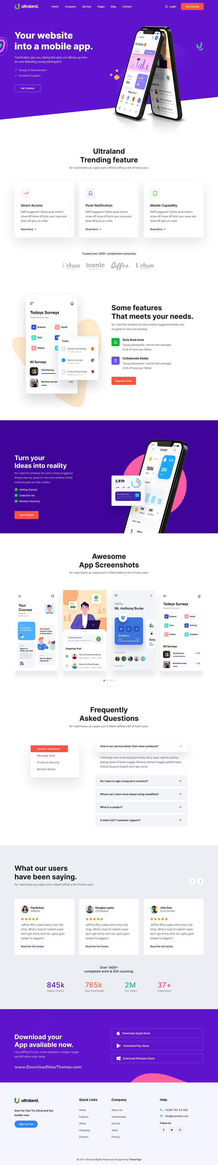 Software & App Startup Bootstrap template