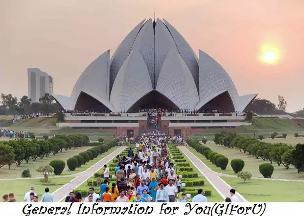 Lotus Temple-Best Tourist Places to Visit in Delhi India-GIforU