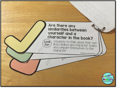 Use these comprehension check cards with any book.