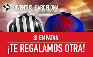 sportium promocion champions Juventus vs Barcelona 22 noviembre