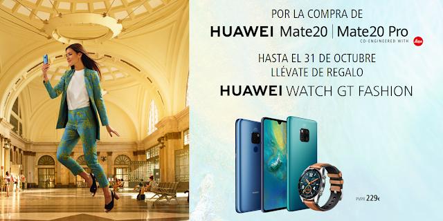 Huawei Mate 20 con Smartwach de Huawei de regalo