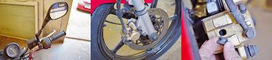 Yamaha YBR 125  BRAKE BLEEDING / FITTING STAINLESS STEEL BRAIDED HOSE , HEL BRAKE LINES