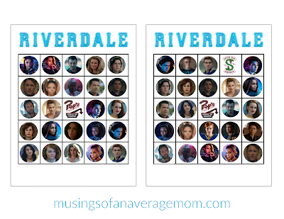 Riverdale bingo printables