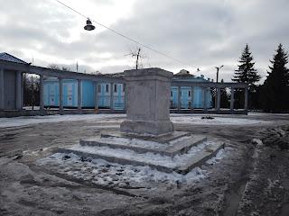 Часів Яр. Постаменти демонтованих пам'ятників