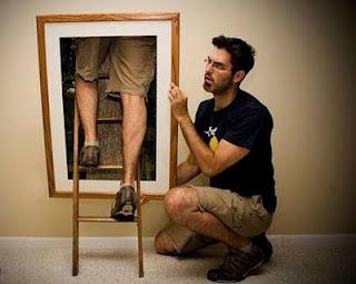 Foto criativa, estranha e engraçada