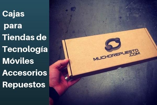 cajas para tiendas online de tecnología, móviles, repuestos