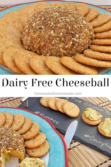 Dairy Free CheeseBall - Home Sweet Homestead