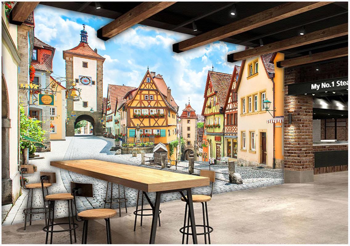 Tranh Trang Trí Quán 3D Phong Cách Châu Âu Đẹp N19