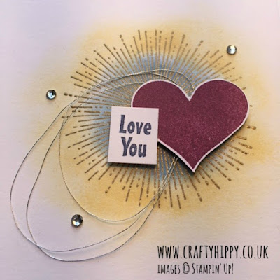 Heart Happiness by Stampin' Up! Perfect for all those Valentine's Day cards.