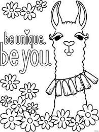 Best Baby Llama Coloring Sheets Picture