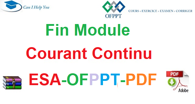 Examens De Fin Module Courant Continu Électromécanique des Systèmes Automatisées-ESA-OFPPT-PDF