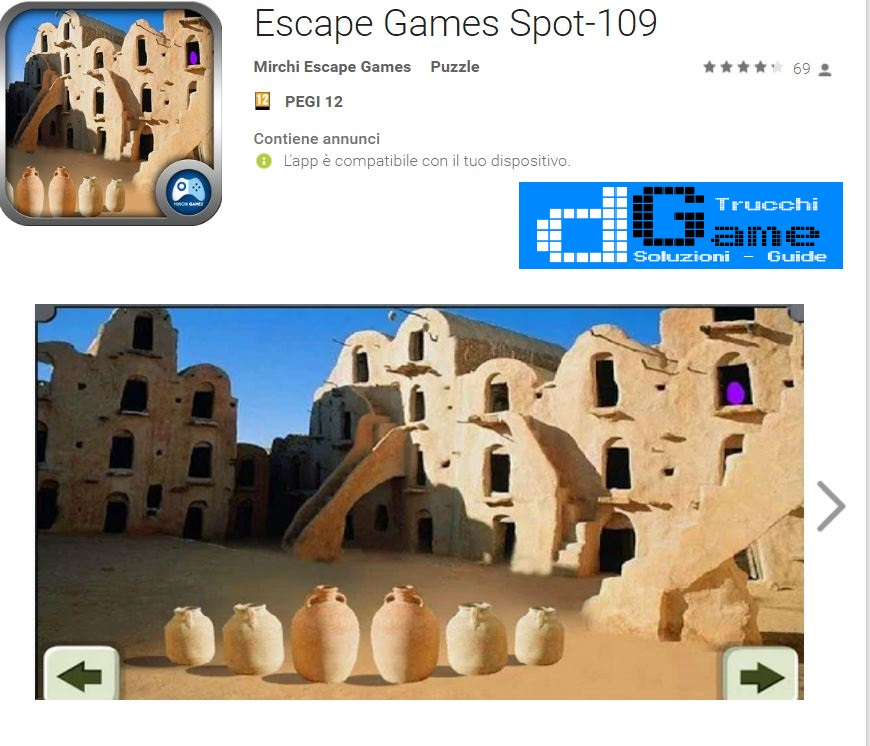 Soluzioni Escape Games Spot-109 di tutti i livelli | Walkthrough guide