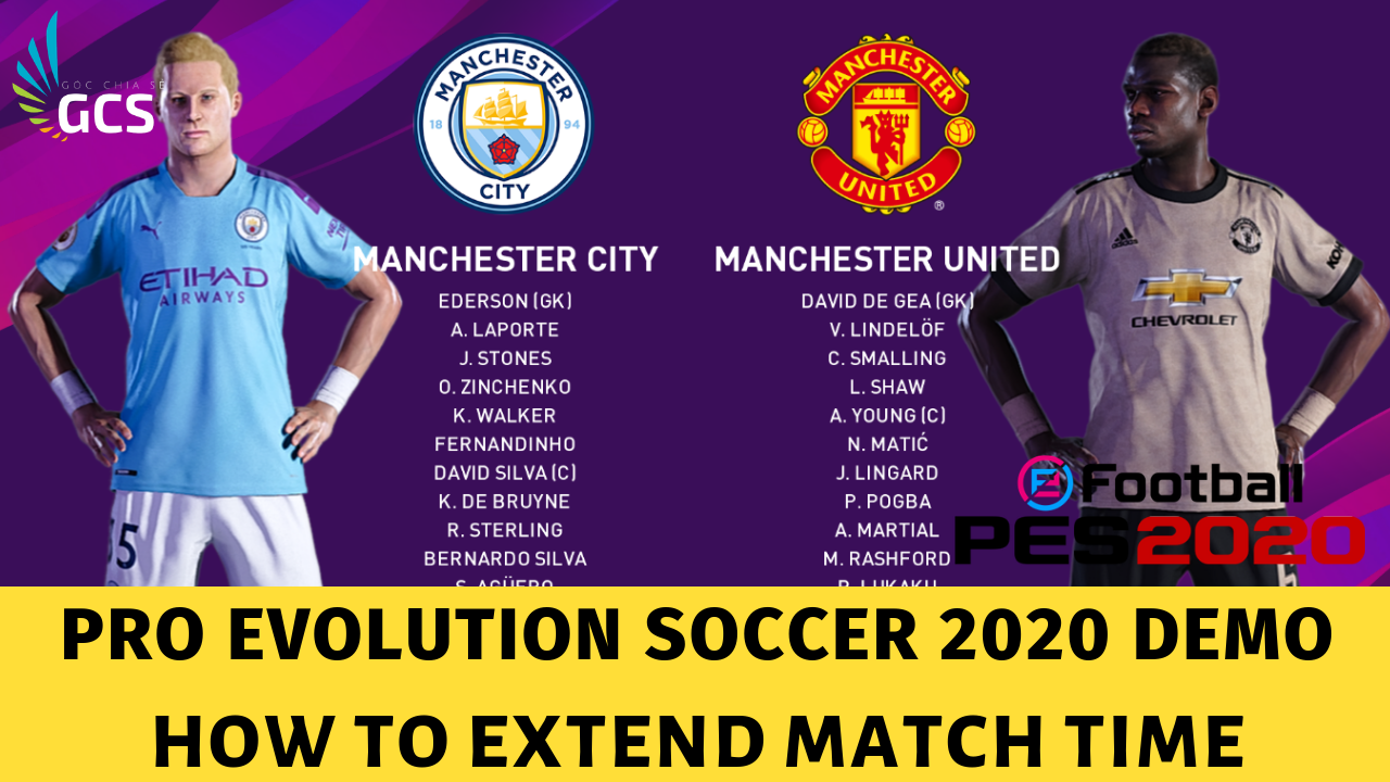 PES 2020 Demo How To Extend match time - www.infogatevn.com