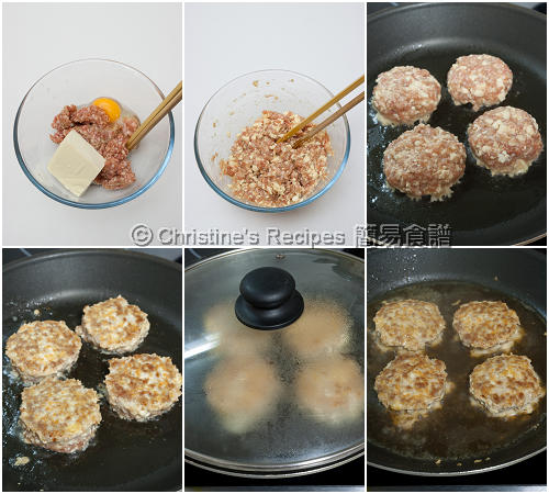 Tofu and pork mince patties christines recipes easy chinese how to make tofu and pork mince patties forumfinder Gallery