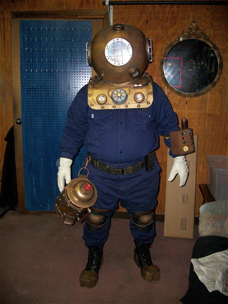 Mrx Designs Steampunk Diving Space Helmet Full Costume
