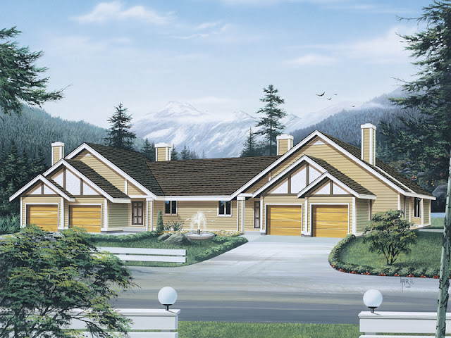 Two Family Duplex Home Design Two Family Duplex Home Design 008D 0100 front main 8