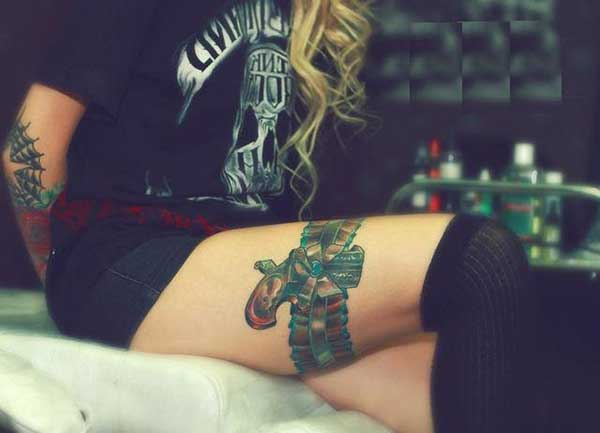 silahlı jartiyer dövme modeli tumblr