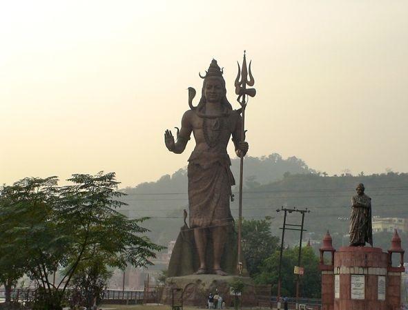 Lord Shiva statue in Haridwar