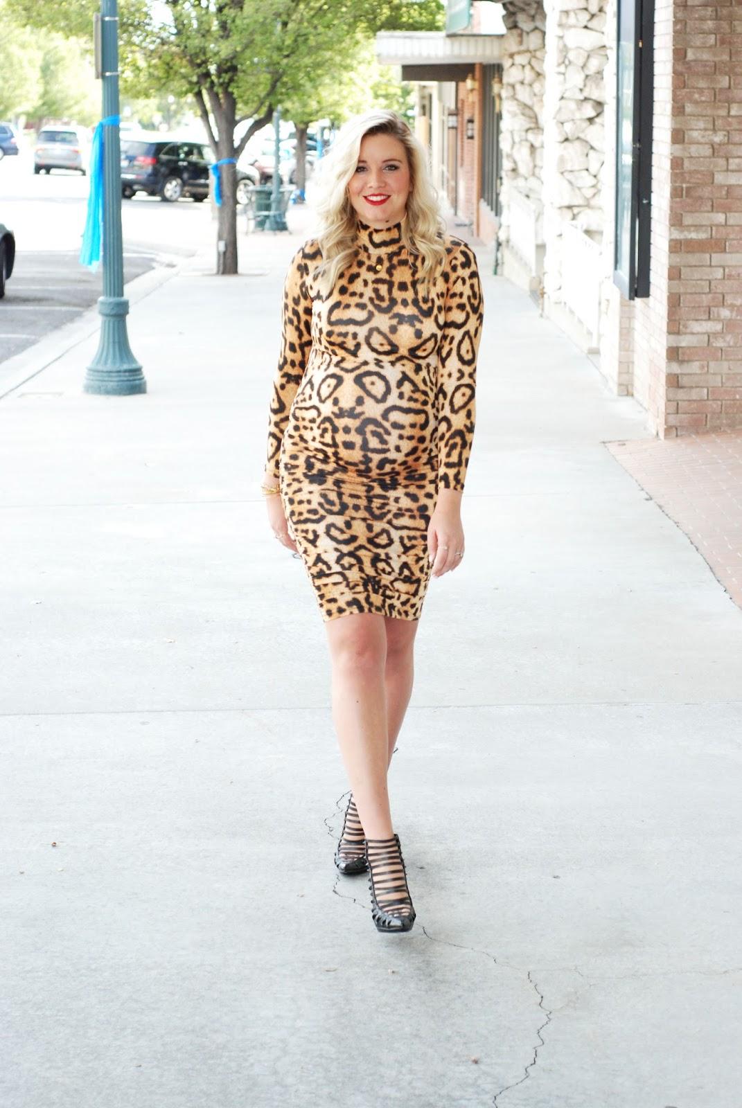 Go Jane, Leopard Print, Utah Fashion Blogger, Pregnant Outfit